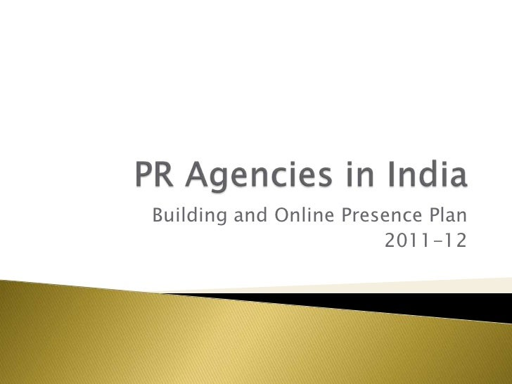 Building and Online Presence Plan                        2011-12