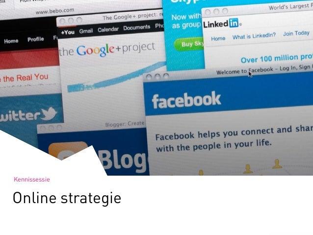 Kennissessie Online strategie