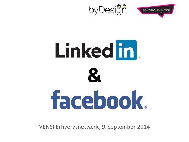 &  VENSI Erhvervsnetværk, 9. september 2014