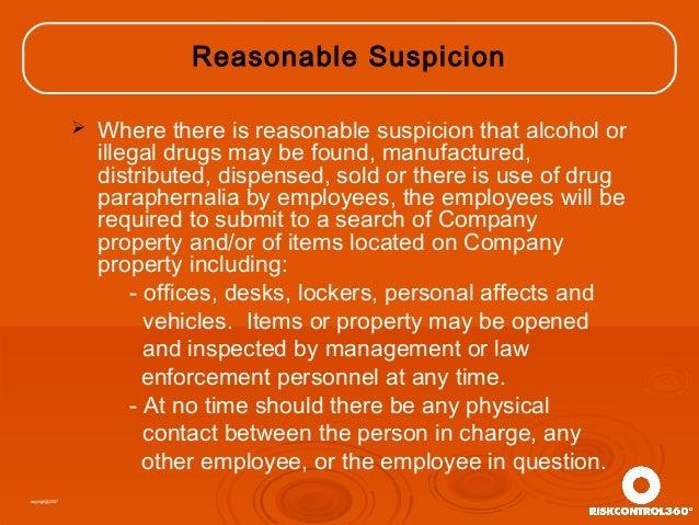 Drug Free Workplace Supervisor Training Presentation ...