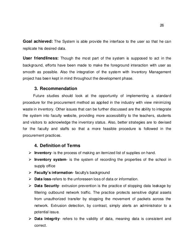 thesis in inventory sysem Inventory system thesis: thesis statement three point essay map inventory management system thesis proposed as a requirement for obtaining sarjana degree at program.