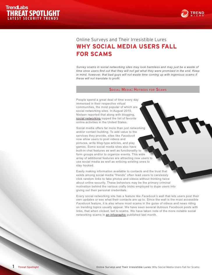 Online Surveys and Their Irresistible Lures                       WHY SOCIAL MEDIA USERS FALL                       FOR SC...
