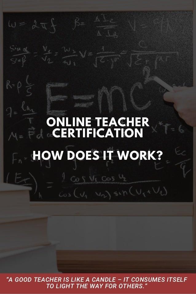 Online Teacher Certification