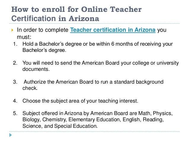 Online Teacher Certification in Arizona