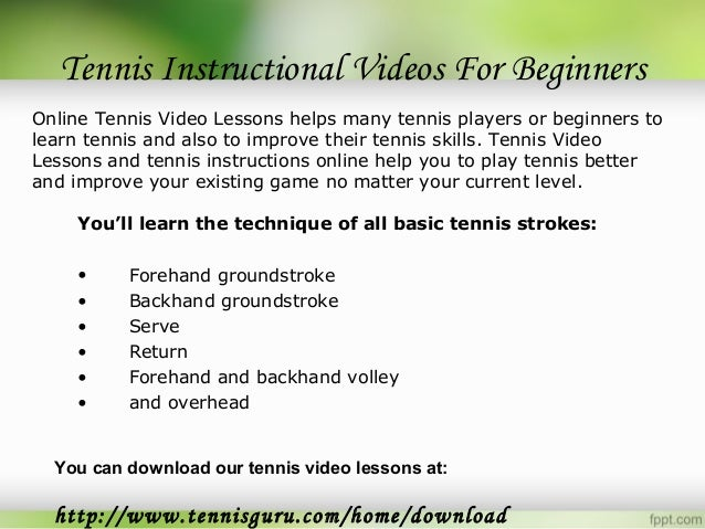 Capestany Tennis - Online Tennis Instruction for Players ...