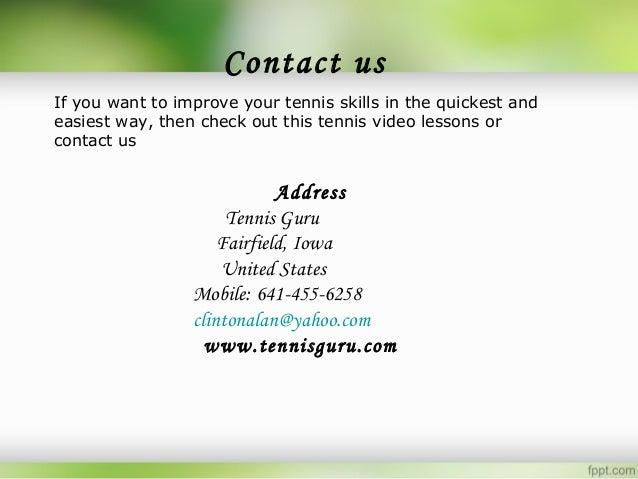 Free Online Tennis Lessons For Technique Development