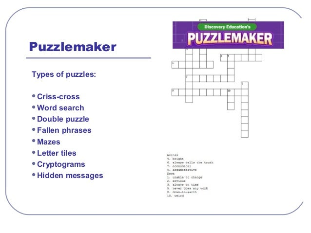 Online testing puzzlemaker word filter ccuart Choice Image