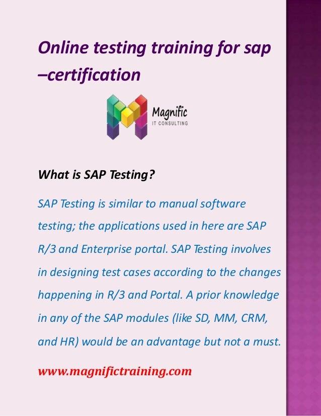 Online Testing Trainning For Sap Certification