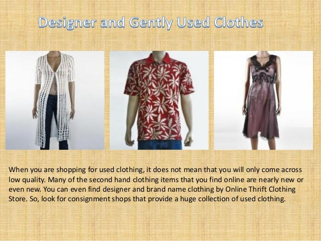 Consignment clothing online