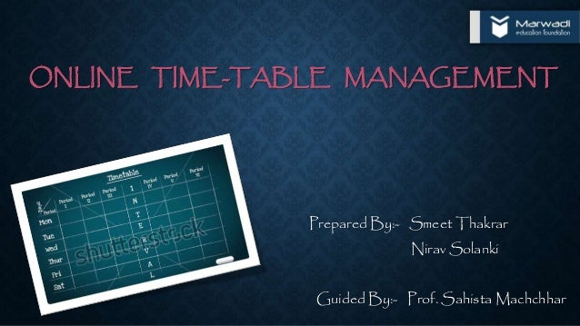 time table software free  colleges