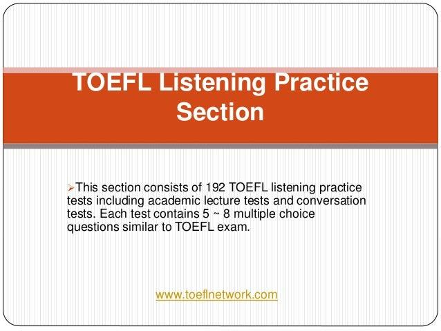 The Best TOEFL Listening Practice