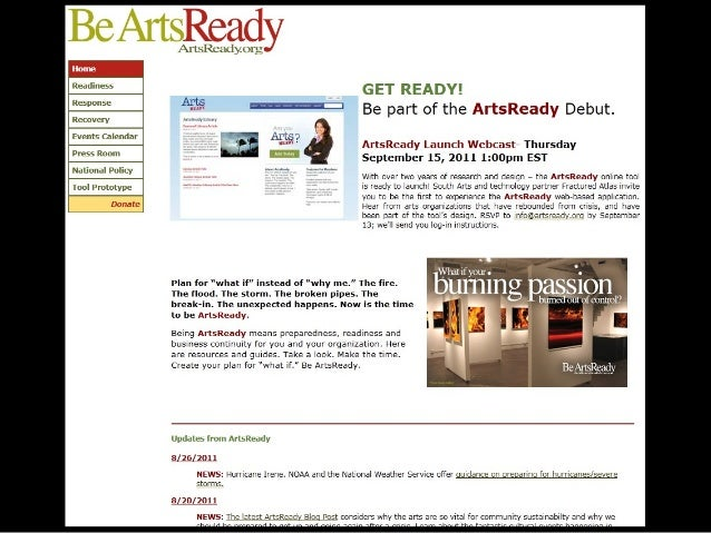 Arts Ready's Online tool demo