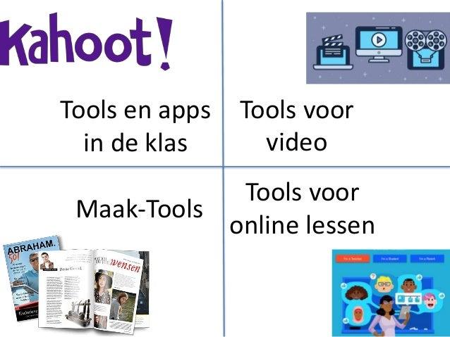 Tools voor video Maak-Tools Tools voor online lessen Tools en apps in de klas