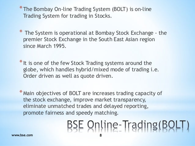 Objectives of online trading system