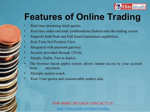 Online trade in