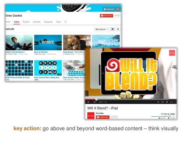 key action: go above and beyond word-based content – think visually