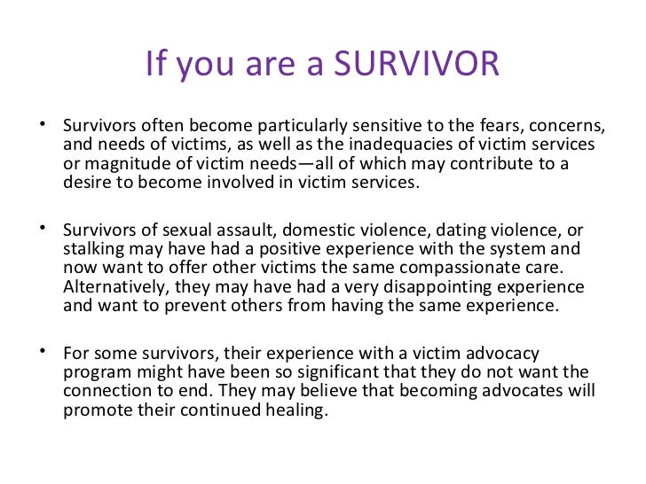 Dating a victim of domestic violence