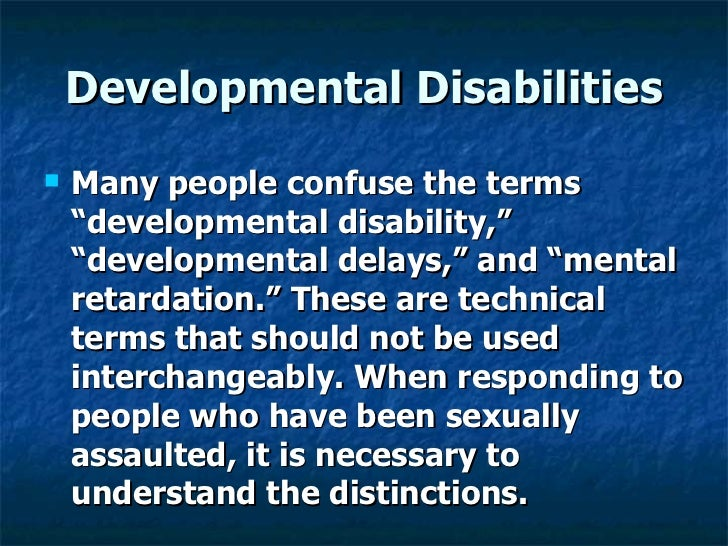 Sexuality education for individuals with developmental disabilities
