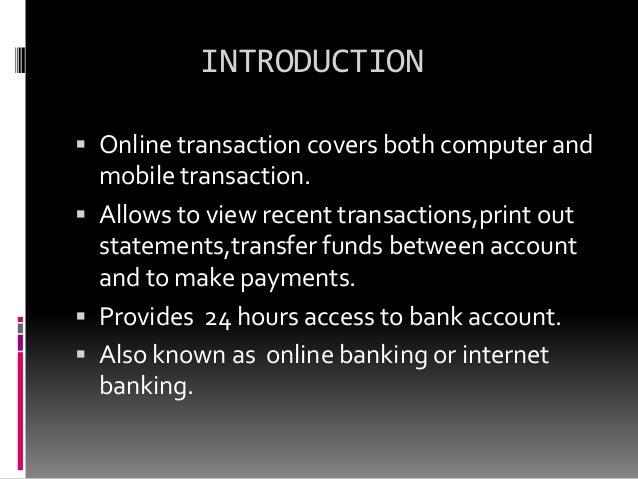 Online transaction Slide 2