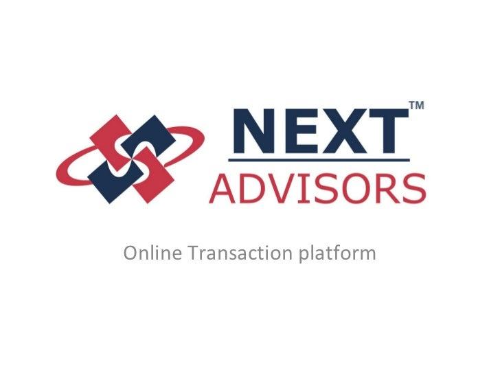 Online transaction platform