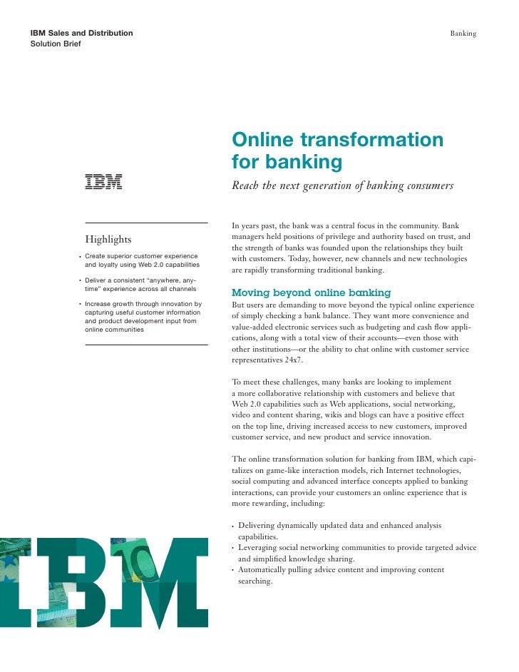 IBM Sales and Distribution                                                                                               B...