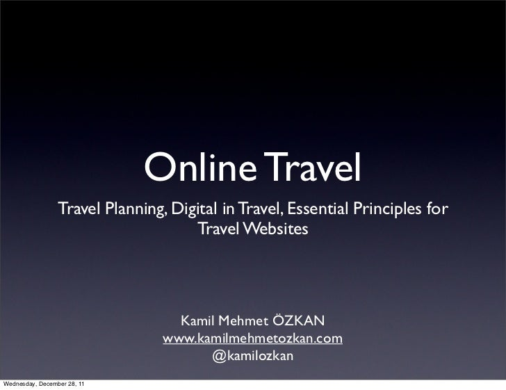 Online Travel                 Travel Planning, Digital in Travel, Essential Principles for                                ...