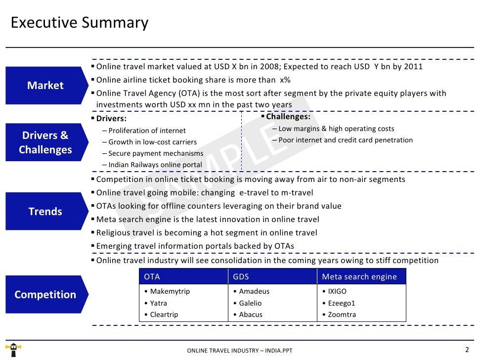 Executive Summary SAMPLE  <ul><ul><li>Drivers: </li></ul></ul><ul><ul><ul><li>Proliferation of internet </li></ul></ul></u...