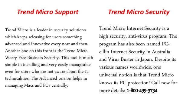 Online Trend Micro Technical Support