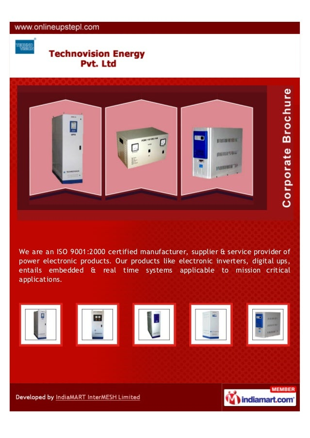 We are an ISO 9001:2000 certified manufacturer, supplier & service provider ofpower electronic products. Our products like...