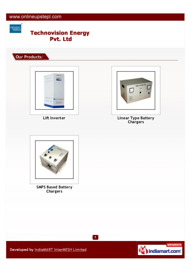 Our Products:                Lift Inverter   Linear Type Battery                                     Chargers         SMPS...