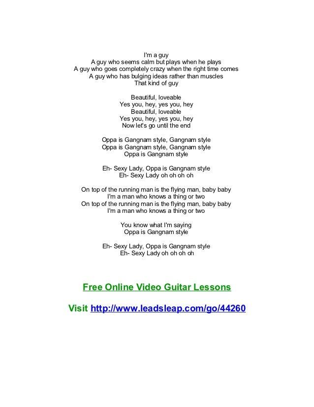 GANGNAM STYLE Chords - Psy | E-Chords