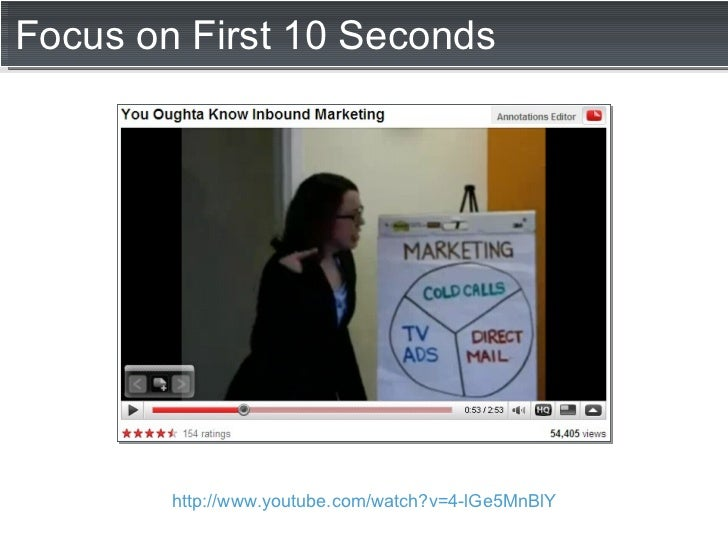 Focus on First 10 Seconds http://www.youtube.com/watch?v=4-lGe5MnBlY