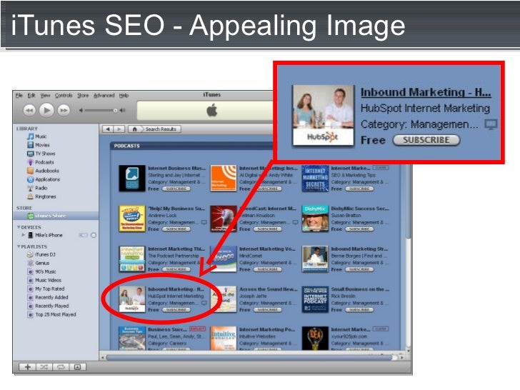 iTunes SEO - Appealing Image