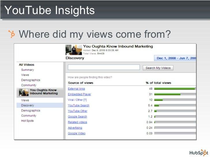 YouTube Insights <ul><li>Where did my views come from? </li></ul>