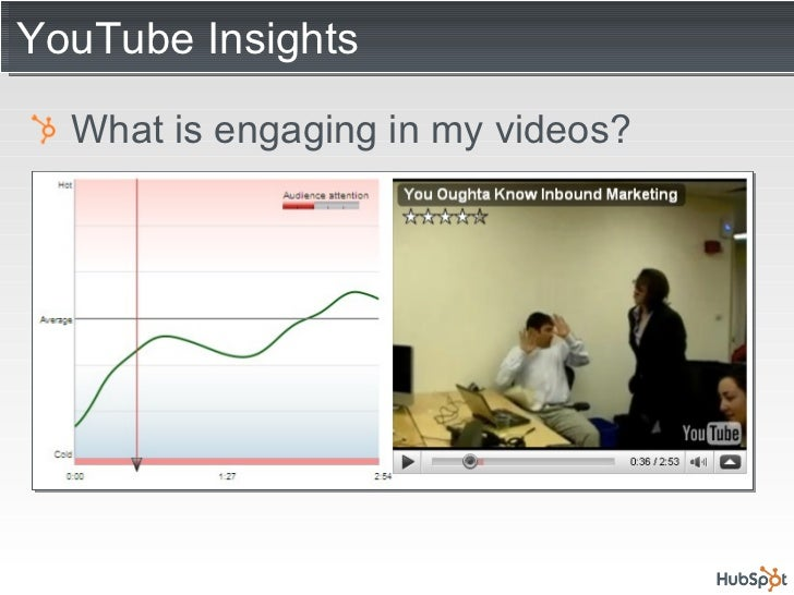 YouTube Insights <ul><li>What is engaging in my videos? </li></ul>