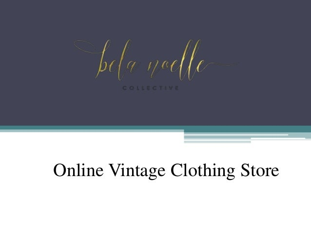 Online vintage clothing store