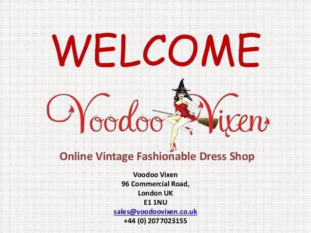 Vintage Clothing, Online Vintage Fashionable Dress Shop
