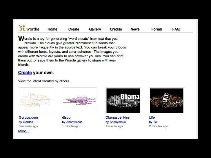 Online Visualization Tools November 11 2008