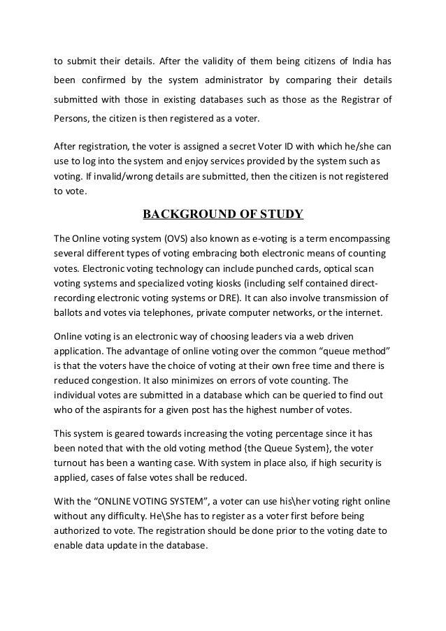 Automated voting system thesis documentation delicatessen restaurant business plan bundle