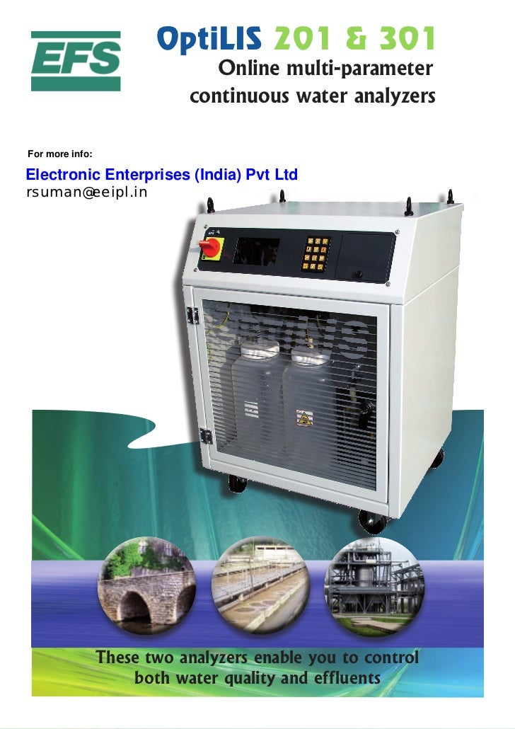 OptiLIS 201 & 301                                Online multi-parameter                             continuous water analy...