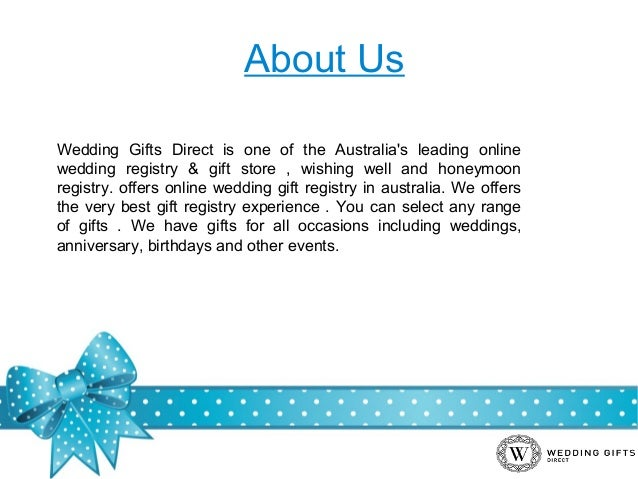 Wedding Gift Online: Online Wedding Gifts And Honeymoon Registry In Australia