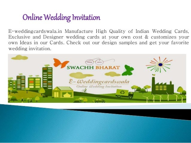 Online Wedding Invitation E-weddingcardswala.in Manufacture High Quality of Indian Wedding Cards, Exclusive and Designer w...