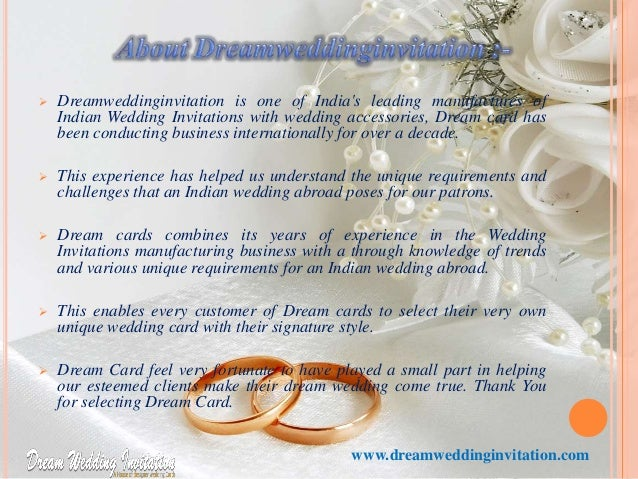 Online Wedding Invitation Cards By Dreamwedding Invitation.com. 1.  Www.dreamweddinginvitation.com; 2.