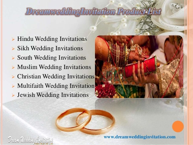 ... 3.  Hindu Wedding Invitations ...