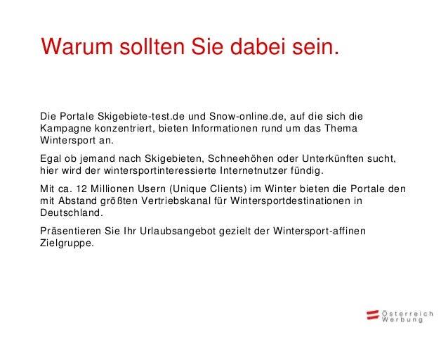 Unsere Leistungen • Teaserwerbung • Platzierung auf Skigebiete-Test.de, SnowOnline.de, Skiresorts-tesf.com • Laufzeit: Okt...