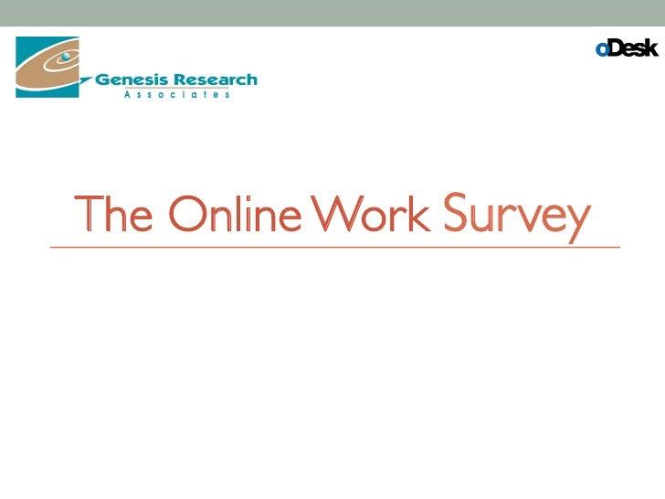 The Online Work Survey