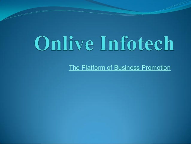 The Platform of Business Promotion