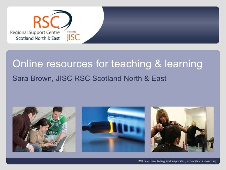 Go to View > Header & Footer to edit April 13, 2010   |  slide  Online resources for teaching & learning Sara Brown, JISC ...