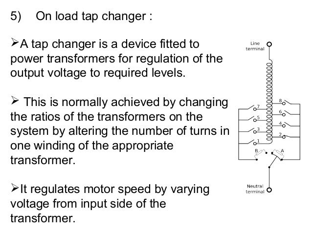 On load tap changer in a.c. locomotive transformer & air blast Oltc Series Schematic Diagram on