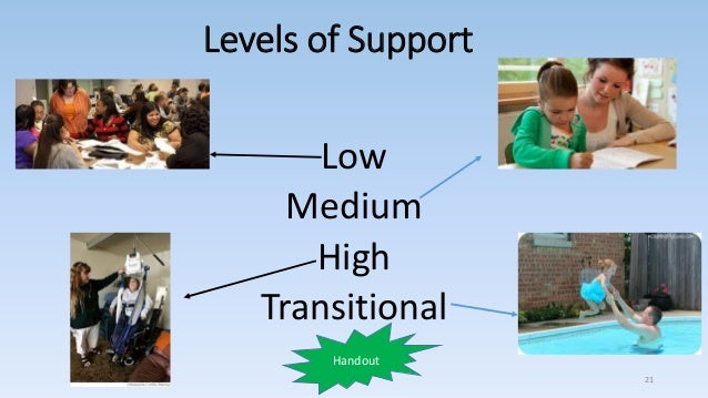 Levels of Support Low Medium High Transitional 21 Handout